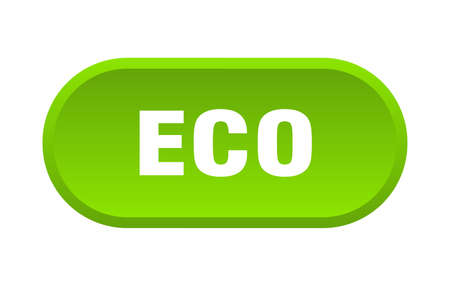 eco button. eco rounded green sign. eco
