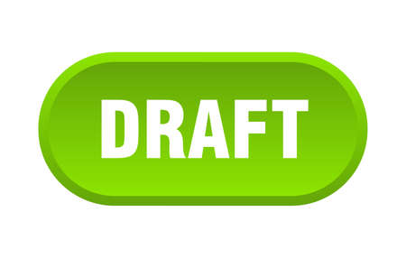 draft button. draft rounded green sign. draft  イラスト・ベクター素材