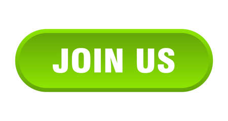 join us button. join us rounded green sign. join us