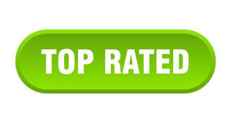 top rated button. top rated rounded green sign. top rated  イラスト・ベクター素材