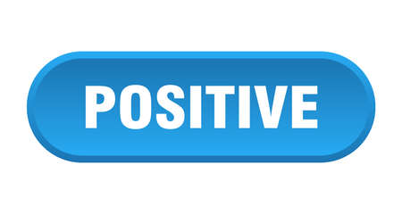 positive button. positive rounded blue sign. positive
