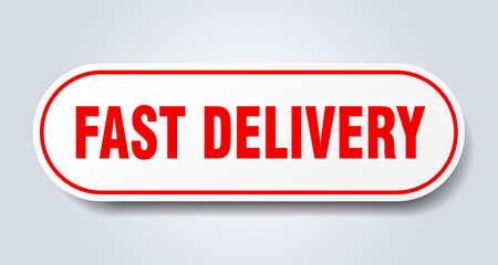 fast delivery sign. fast delivery rounded red sticker. fast delivery