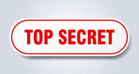 top secret sign. top secret rounded red sticker. top secret 일러스트