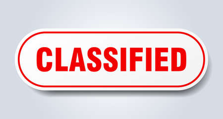 classified sign. classified rounded red sticker. classified 일러스트
