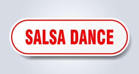salsa dance sign. salsa dance rounded red sticker. salsa dance Иллюстрация