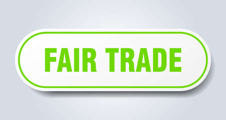 fair trade sign. fair trade rounded green sticker. fair trade