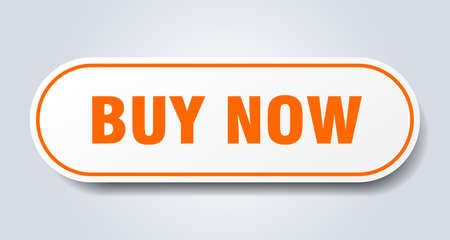 buy now sign. buy now rounded orange sticker. buy now