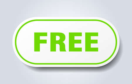 free sign. free rounded green sticker. free