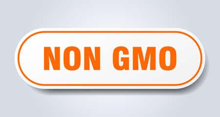 non gmo sign. non gmo rounded orange sticker. non gmo