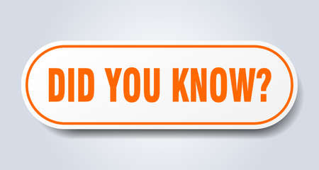 did you know sign. did you know rounded orange sticker. did you know Illusztráció