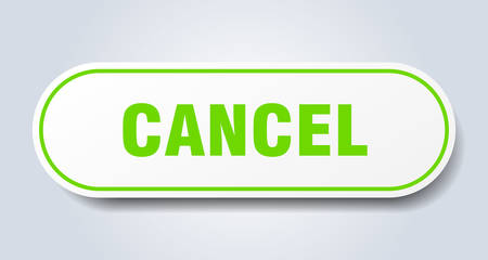cancel sign. cancel rounded green sticker. cancel Foto de archivo - 129919232