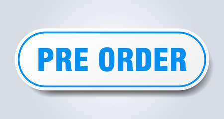 pre order sign. pre order rounded blue sticker. pre order Illustration