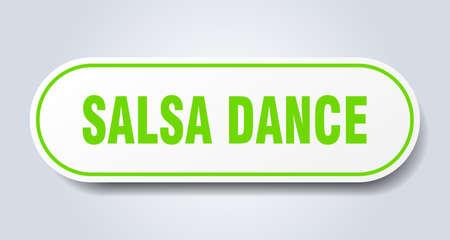 salsa dance sign. salsa dance rounded green sticker. salsa dance