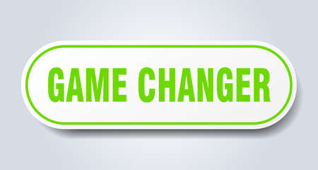 game changer sign. game changer rounded green sticker. game changer