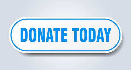 donate today sign. donate today rounded blue sticker. donate today Illusztráció