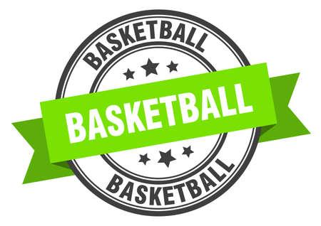 basketball label. basketball green band sign. basketball