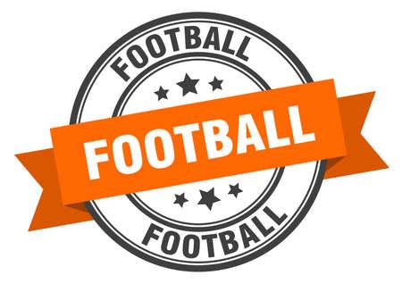 football label. football orange band sign. football Illusztráció