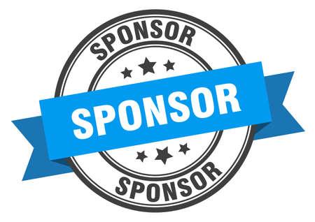 sponsor label. sponsor blue band sign. sponsor