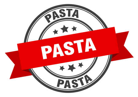 pasta label. pasta red band sign. pasta