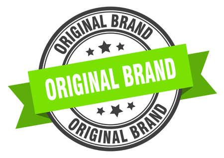 Original-Markenetikett. originales grünes Bandzeichen der Marke. originale Marke