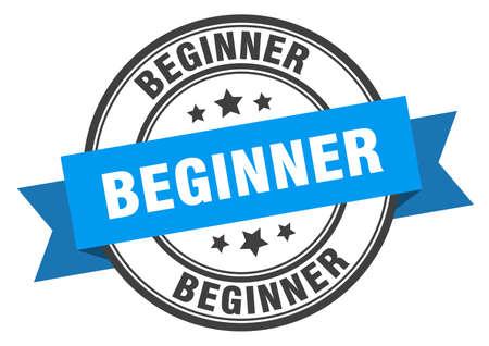 beginner label. beginner blue band sign. beginner Ilustrace