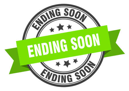 ending soon label. ending soon green band sign. ending soon