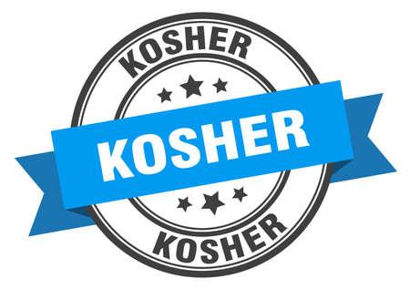kosher label. kosher blue band sign. kosher