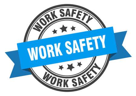 work safety label. work safety blue band sign. work safety