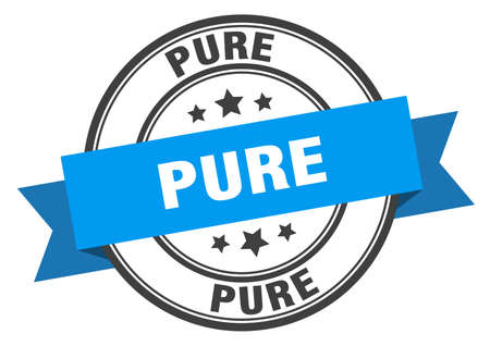 pure label. pure blue band sign. pure