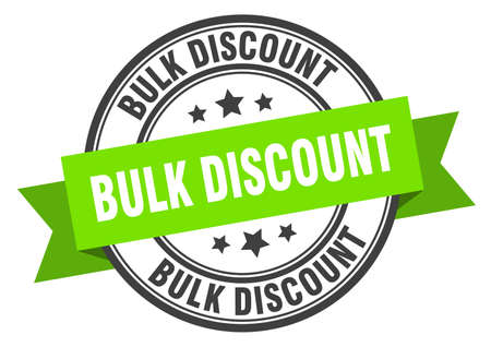 bulk discount label. bulk discount green band sign. bulk discount