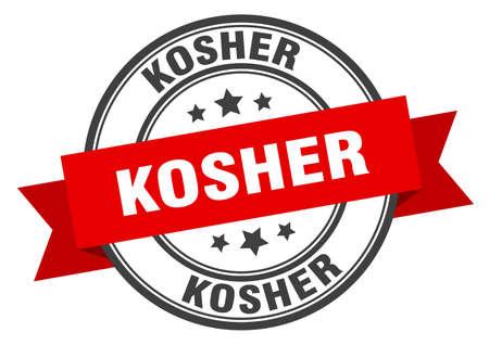kosher label. kosher red band sign. kosher