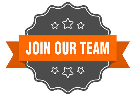 join our team isolated seal. join our team orange label. join our team Illustration