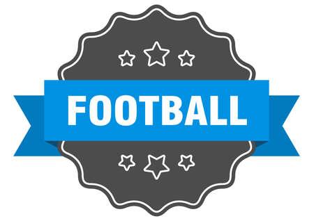 football blue label. football isolated seal. football