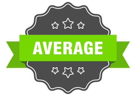 average isolated seal. average green label. average