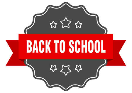 back to school red label. back to school isolated seal. back to school