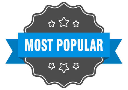 most popular blue label. most popular isolated seal. most popular