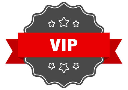 vip red label. vip isolated seal. vip Banco de Imagens - 130782037