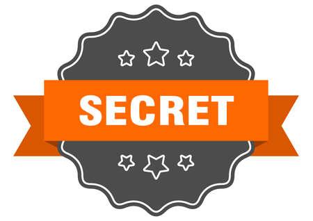 secret isolated seal. secret orange label. secret Иллюстрация