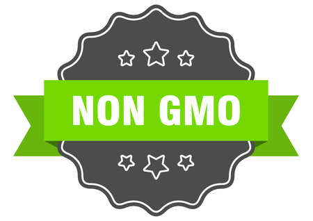 non gmo isolated seal. non gmo green label. non gmo