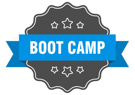 boot camp blue label. boot camp isolated seal. boot camp