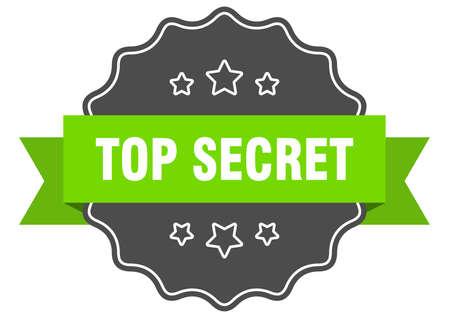 top secret isolated seal. top secret green label. top secret