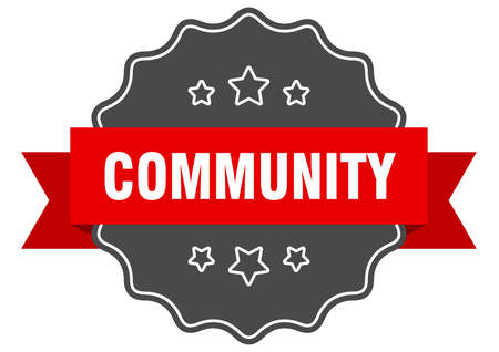 community red label. community isolated seal. community