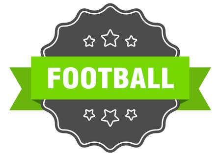 football isolated seal. football green label. football