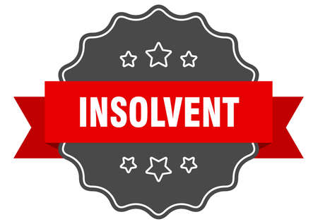insolvent red label. insolvent isolated seal. insolvent