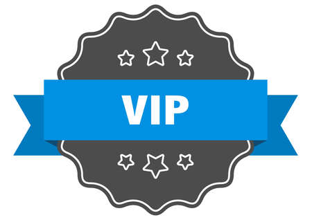 vip blue label. vip isolated seal. vip Banco de Imagens - 130783405