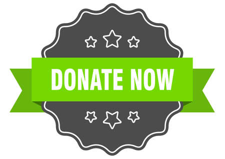 donate now isolated seal. donate now green label. donate now