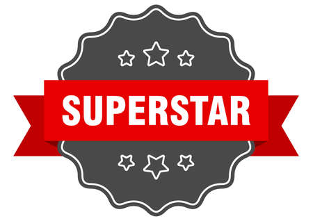 superstar red label. superstar isolated seal. superstar
