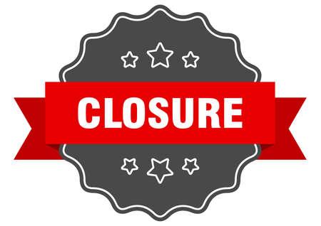 closure red label. closure isolated seal. closure
