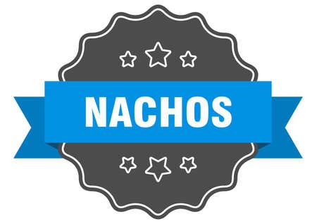 nachos blue label. nachos isolated seal. nachos
