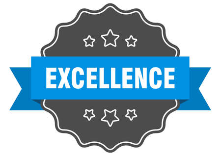 excellence blue label. excellence isolated seal. excellence